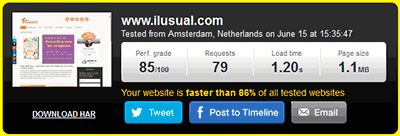 comprobar la velocidad de carga de un blog con pingdoom