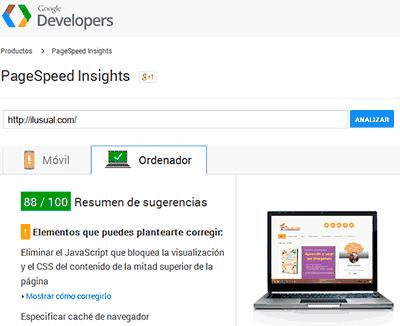 Reducir los tiempos de carga de una web con google pagespeed insights