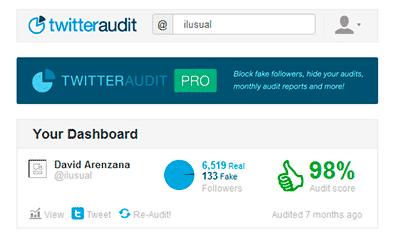 Herramientas community manager Twitter Audit